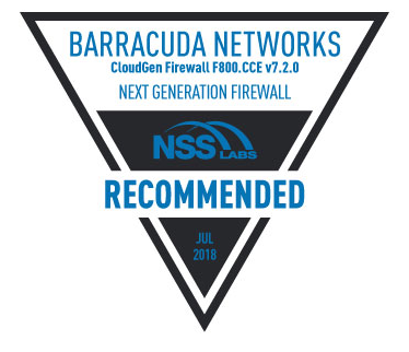 Barracuda Networks NSS Labs Recommeneded